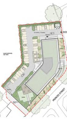 Third office plan site plan